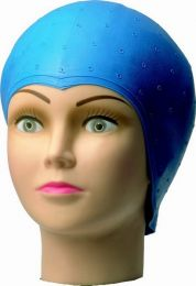 Comair Strähnenhaube Latex blau